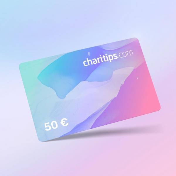 Carte cadeau Charitips de 50€