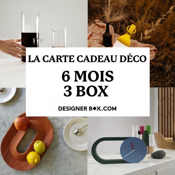 Box déco - Carte cadeau 6 mois / 3 box