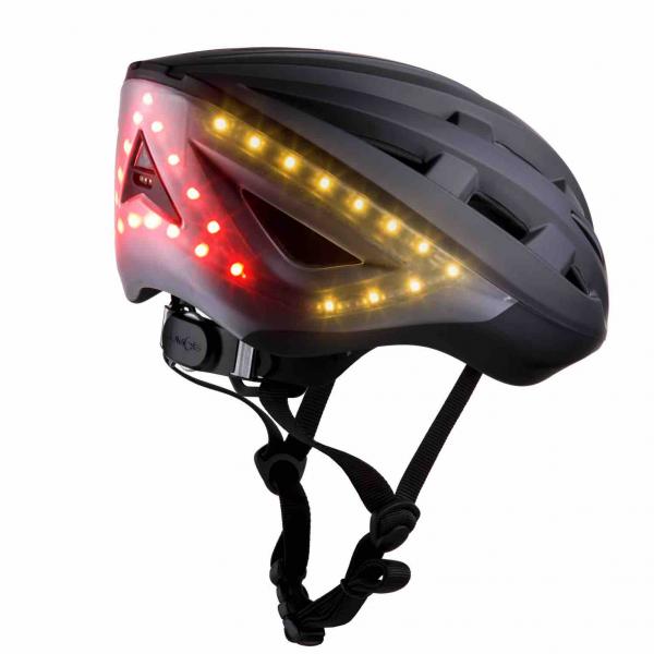 Casque de Vélo Lumineux avec Clignotants et Feu Stop