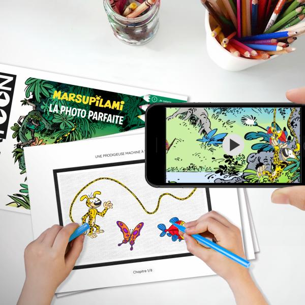 Un livre de coloriage animé avec ton héros