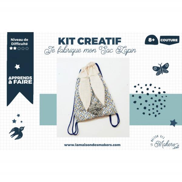 Kit créatif : Je Couds mon Sac à dos Lapin