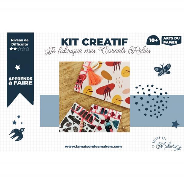 Kit créatif : Je Fabrique mes carnets reliés