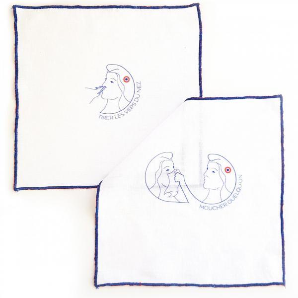 3 mouchoirs en lin - les nexpressions