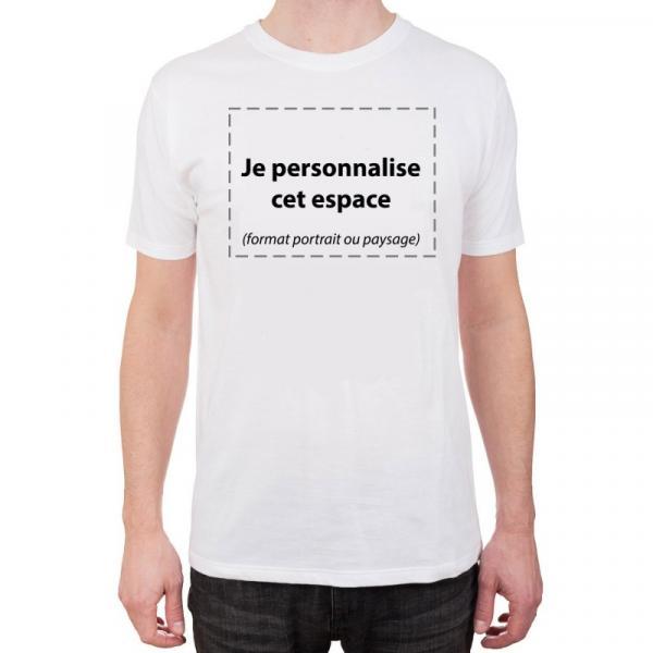 T-shirt blanc imprimé personnalisé