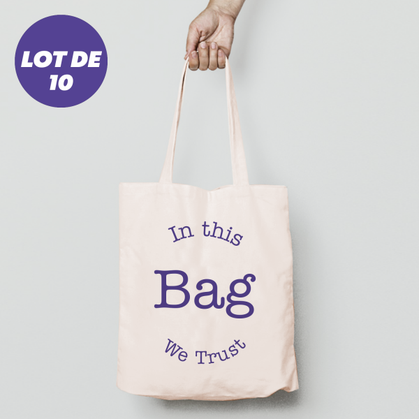Totebag personnalisable - lot de 10